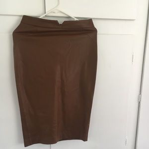 Zara faux leather pencil skirt
